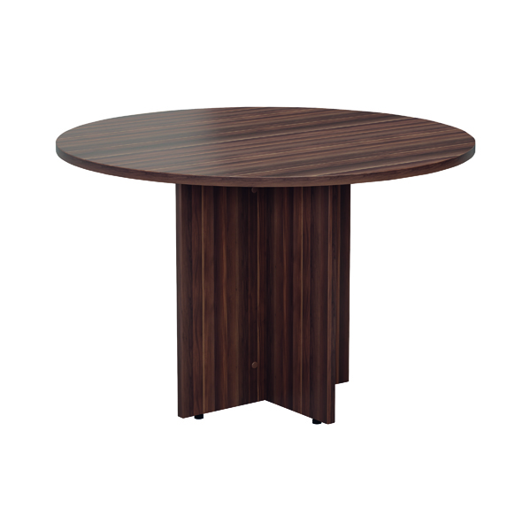 Office Jemini Grey Oak Round D1200 Meeting Table KF78960