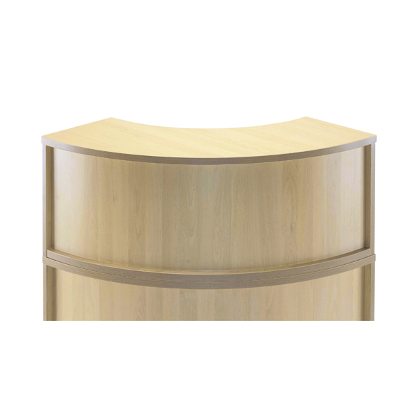 Jemini Maple Radial Reception Hutch Unit KF78975