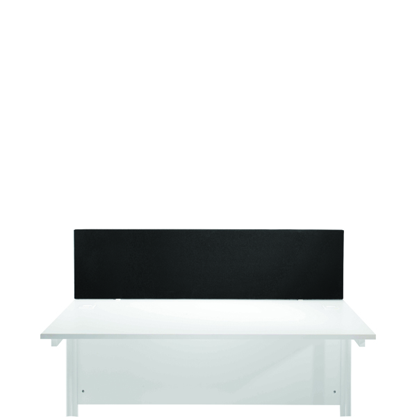 Desk Jemini Black 800mm Straight Mounted Desk Screen KF78996