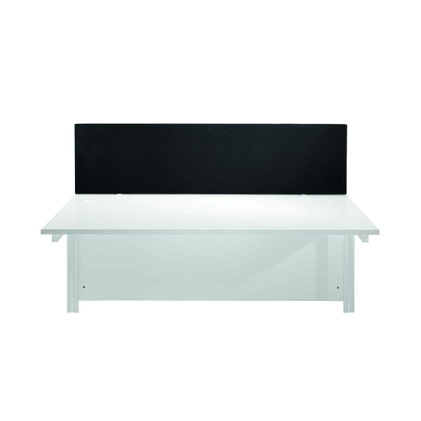 Desk Jemini Black 1200mm Straight Mounted Desk Screen KF78998