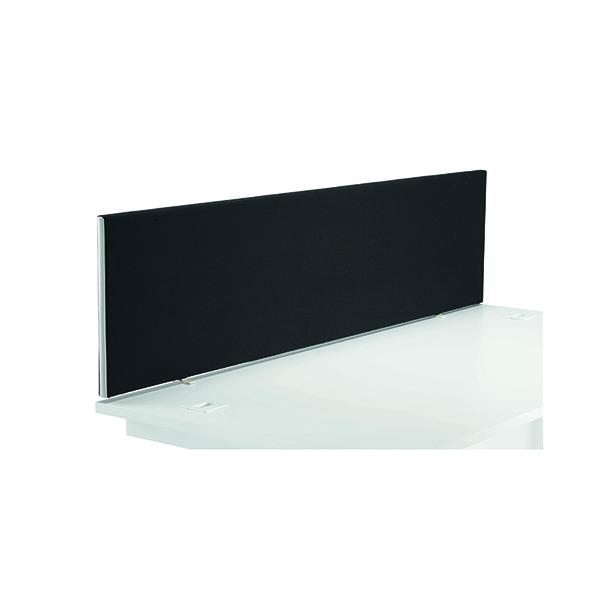 Desk Jemini Black 1600mm Straight Mounted Desk Screen KF79001