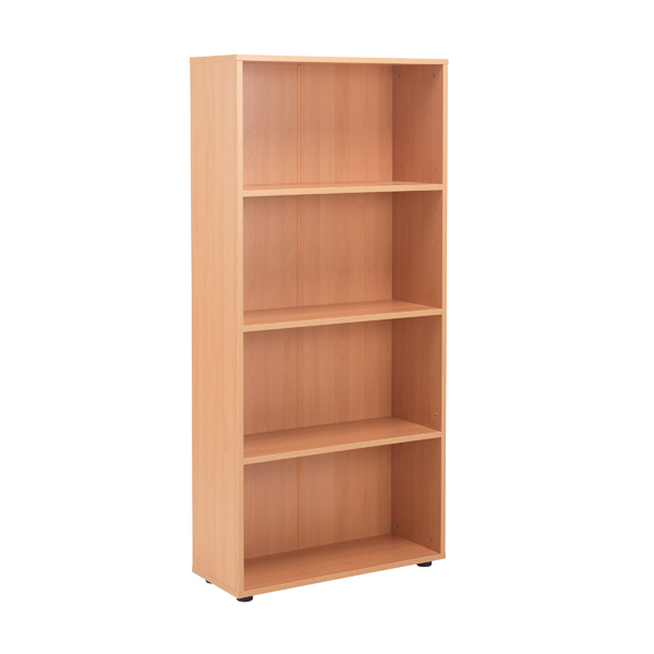 Jemini 18 Beech 1620mm Three Shelf Open Bookcase KF79017