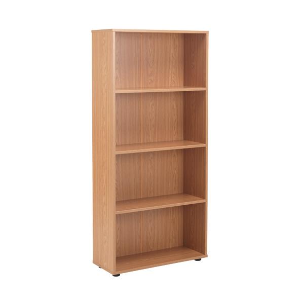 Jemini 18 Oak 1620mm Three Shelf Open Bookcase KF79018