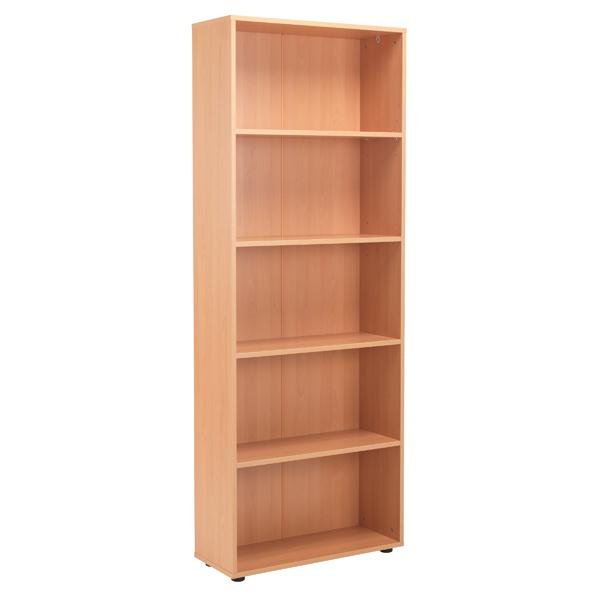 Jemini 18 Beech 2004mm Four Shelf Open Bookcase KF79019