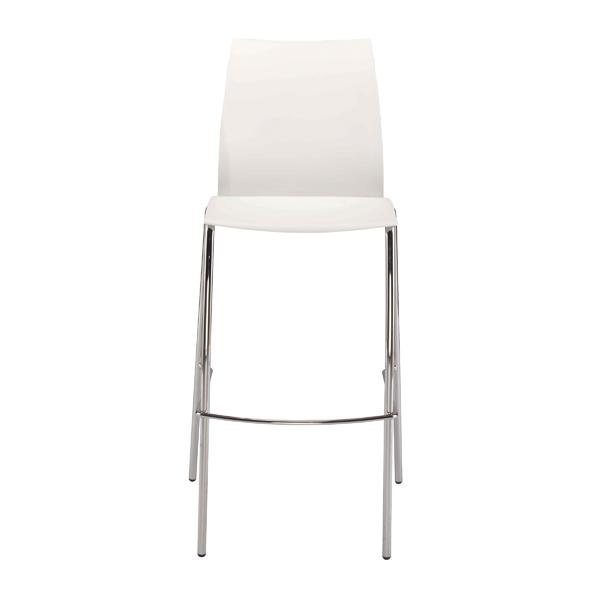 Desk Chairs FF Jemini White Tall Bistro Chair KF79032