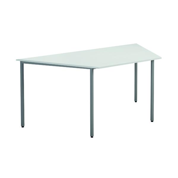 Jemini White W1600mm Trapezoidal Table KF79036