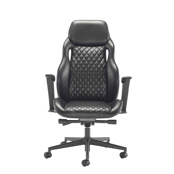 High Back Arista Svelto Leather Look Executive Chair Black KF79130
