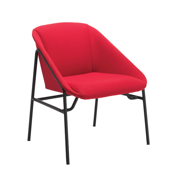 Reception Chairs Jemini Red Bistro Reception Armchair KF79134