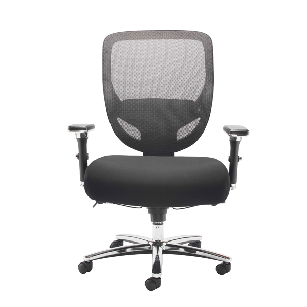 High Back Avior Congo Big and Tall Heavy Duty Chair Black KF79140