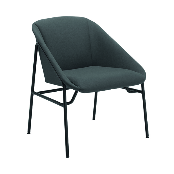 Chairs with Arms Jemini Grey Bistro Reception Armchair KF79230