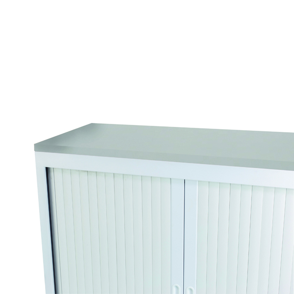 Cupboards H up to 1200mm Talos Tambour Wooden Top White W1000 x D450 x H25mm TCS-TAM-TOPWH