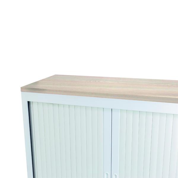 Cupboards H up to 1200mm Talos Tambour Wooden Top Grey Oak W1000 x D450 x H25mm TCS-TAM-TOPGO