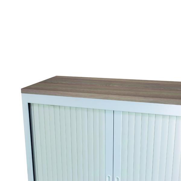 Cupboards H up to 1200mm Talos Tambour Wooden Top Dark Walnut W1000 x D450 x H25mm TCS-TAM-TOPDW