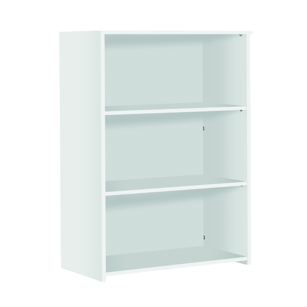 H up to 1200mm Serrion Medium Bookcase 1200mm White KF79434