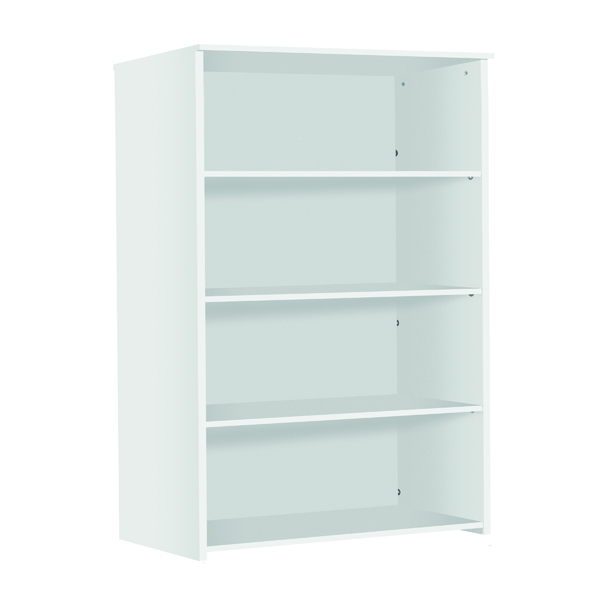 H up to 1200mm Serrion Medium Bookcase 1750mm White KF79438
