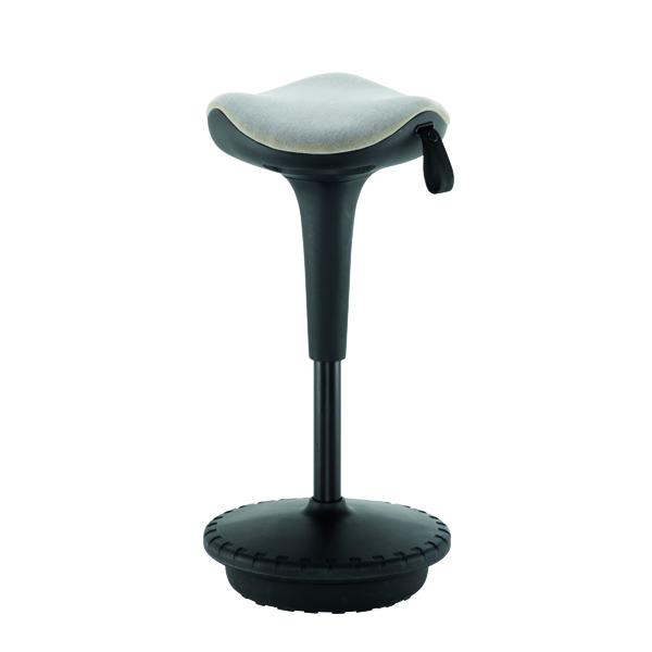 Other Jemini Sway Height Adjustable Sit Stand Wobble Stool Black/Black KF79440