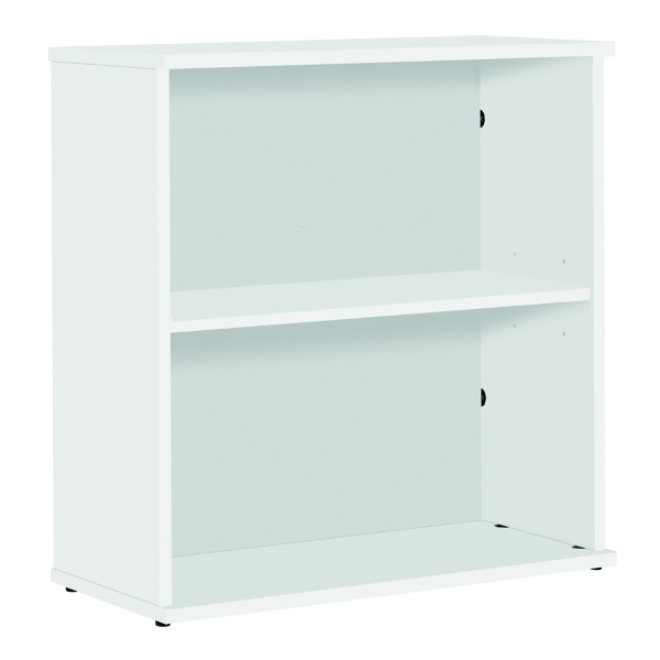 H up to 1200mm Serrion Small Bookcase 800mm White KF79441