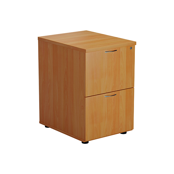 Two Drawer FF Jemini Beech 2 Drawer Filing Cabinet Version 2 TES2FCBE2