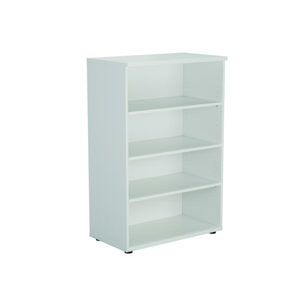 Unspecified Serrion Bookcase 1200mm White E1200BCWH