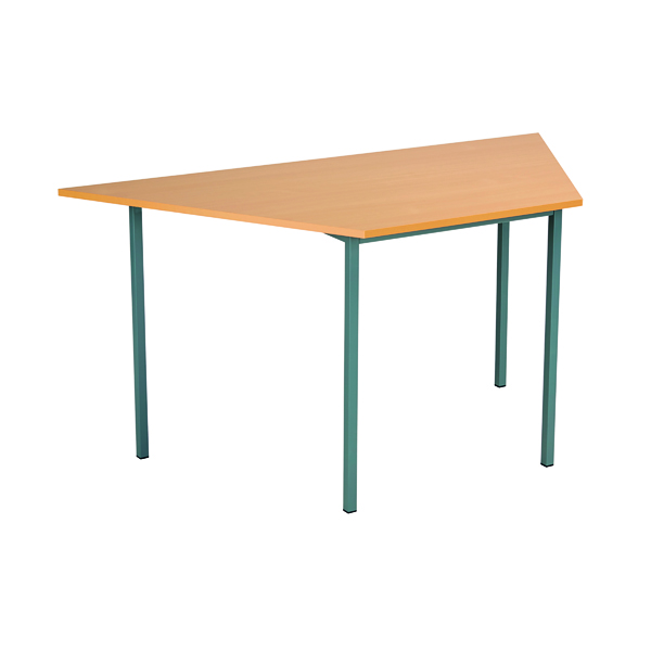 Office Serrion Trapezoidal Desk 1500mm Bavarian Beech ETRAPT1500BE