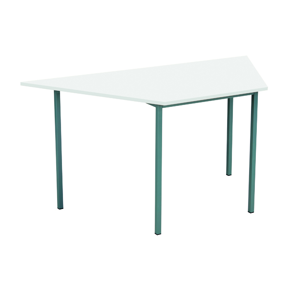 Office Serrion Trapezoidal Desk 1500mm White ETRAPT1500WH