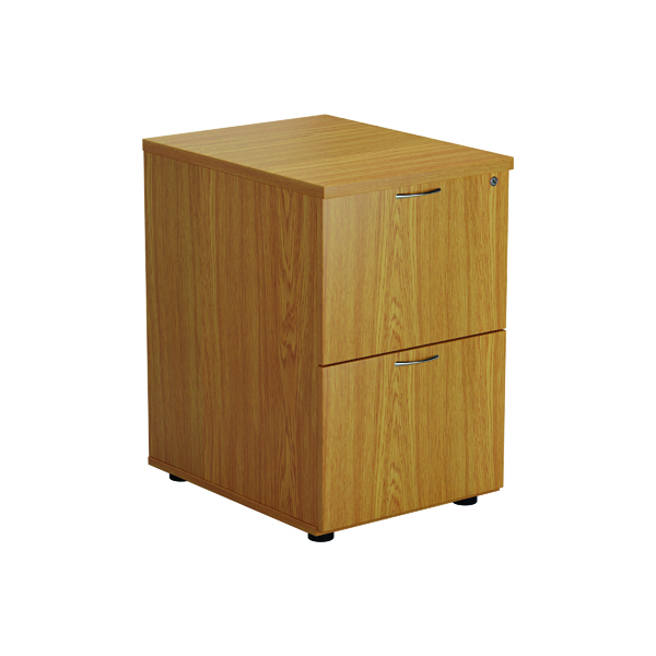 2 Drawer Jemini Nova Oak 2 Drawer Filing Cabinet TES2FCNO