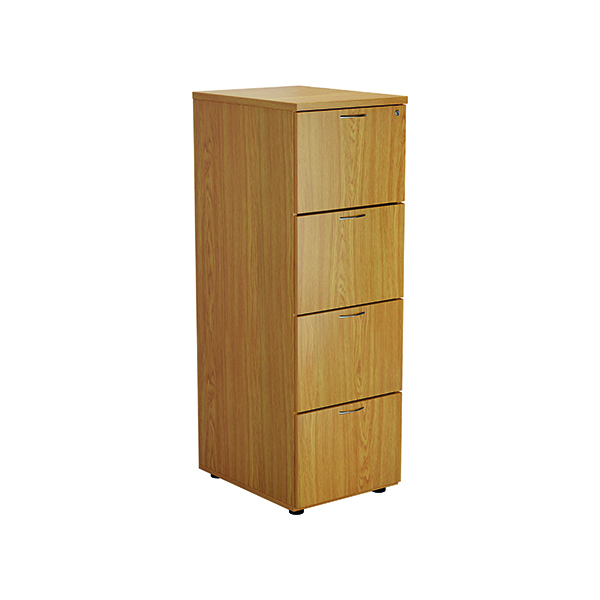 Four Drawer FF Jemini Nova Oak 4 Drawer Filing Cabinet TES4FCNO