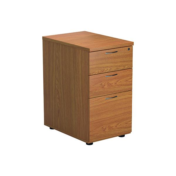 3 Drawer Jemini Nova Oak 3 Drawer Desk High Ped TESDHP3/800NO
