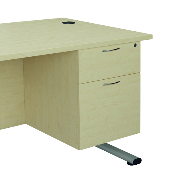 Two Drawer FF Jemini Maple 2 Drawer Fixed Pedestal TESHP2MA