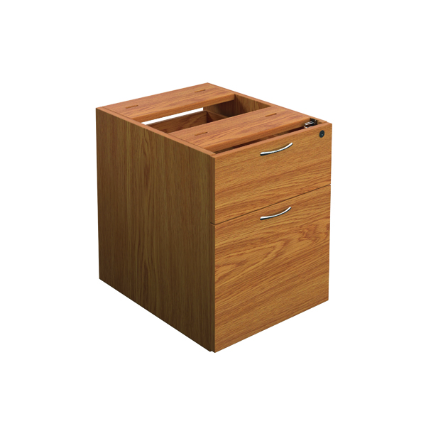 2 Drawer Jemini Nova Oak 2 Drawer Fixed Pedestal TESHP2NO