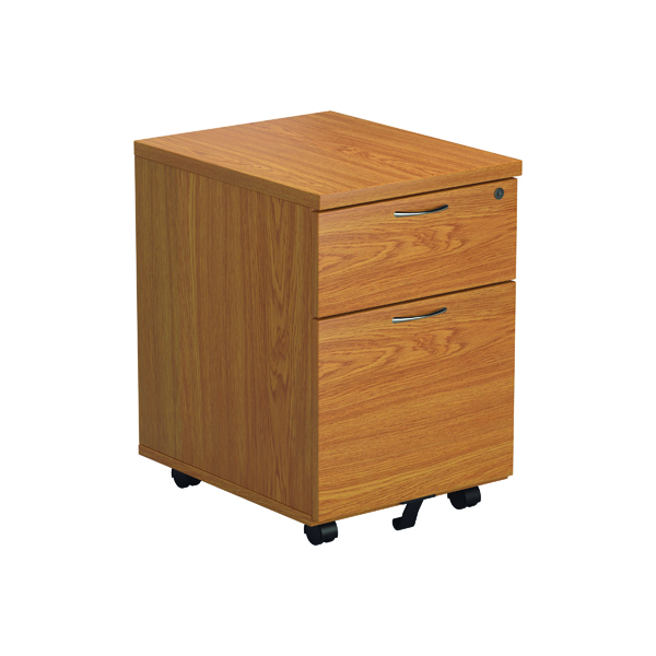 2 Drawer Jemini Nova Oak 2 Drawer Mobile Pedestal TESMP2NO