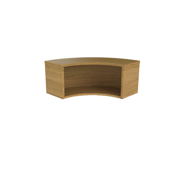 Other Jemini Reception Modular Corner Hutch Unit Nova Oak RCMCHNO