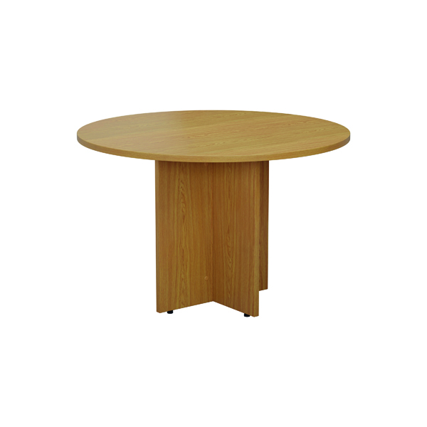 Office Jemini Round Meeting Table 1200mm Nova Oak TES1100DNO