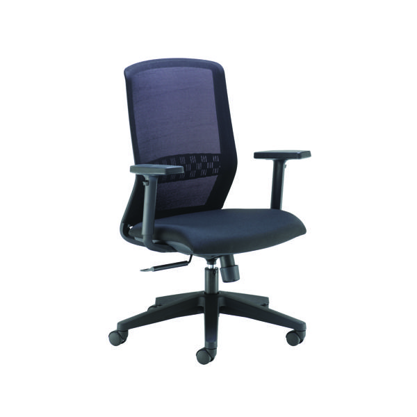 High Back Arista Tekna High Back Executive Mesh Chair Black KF79886