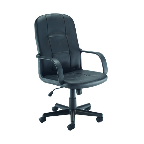 High Back Jemini Jack 2 Leather Look Executive Chair Black KF79887