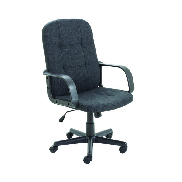 High Back Jemini Jack 2 Fabric Executive Chair Charcoal KF79889