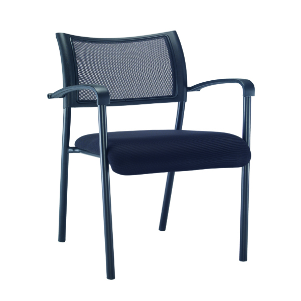 Chairs with Arms Jemini Jupiter Mesh Back Conference 4 Leg Arm Chair Black Frame KF79893