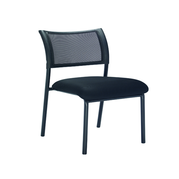 Chairs without Arms Jemini Jupiter Mesh Back Conference 4 Leg Side Chair Black Frame KF79894