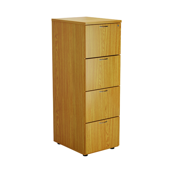 Four Drawer First Four Drawer Filing Cabinet Nova Oak TES4FCNO