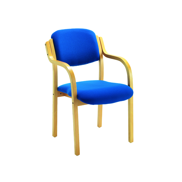 Chairs with Arms First Wooden Frame Side Chair with Arms Blue CH0706RBV2