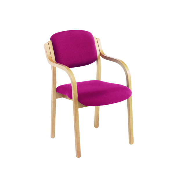 Chairs with Arms First Wooden Frame Side Chair with Arms Claret CH0706CL