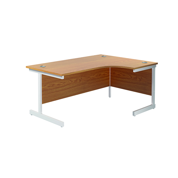 Radial Jemini Right Hand Radial Cantilever Desk 1600x1200mm Nova Oak/White KF801923