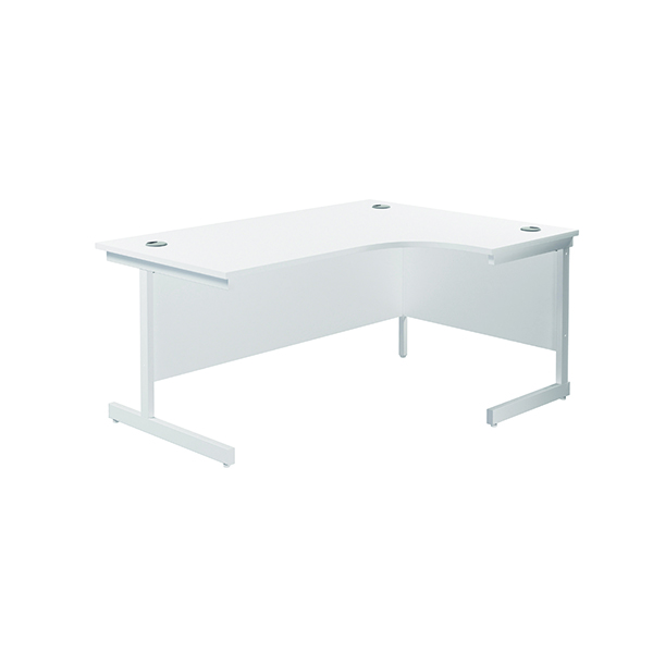 Radial Jemini Right Hand Radial Cantilever Desk 1600x1200mm White/White KF801936