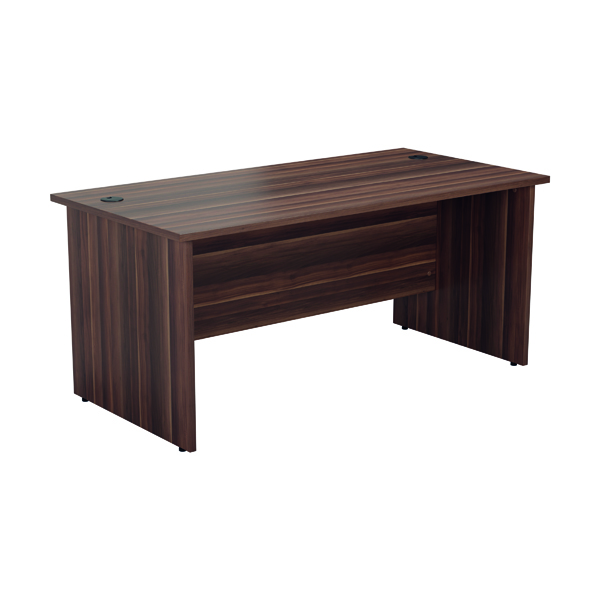 Rectangular Desks Jemini Rectangular Panel End Desk 1200x800mm Dark Walnut KF804390