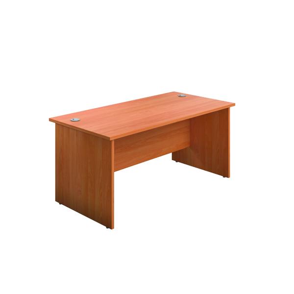 Rectangular Desks Jemini Rectangular Panel End Desk 1600x800mm Beech KF804468