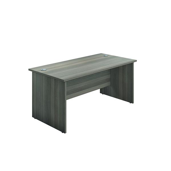 Rectangular Desks Jemini Rectangular Panel End Desk 1600x800mm Grey Oak KF804475