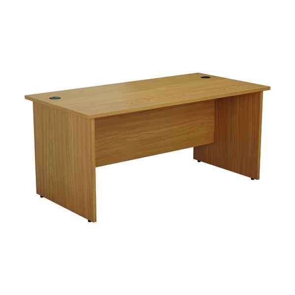 Rectangular Desks Jemini Rectangular Panel End Desk 1600x800mm Nova Oak KF804482