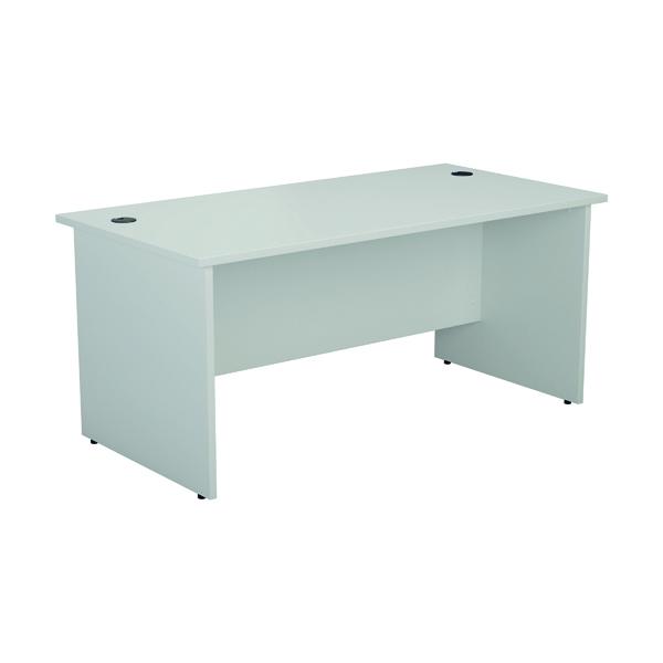 Rectangular Desks Jemini Rectangular Panel End Desk 1600x800mm White KF804499