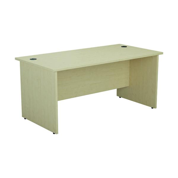 Rectangular Desks Jemini Rectangular Panel End Desk 1600x800mm Maple KF804505