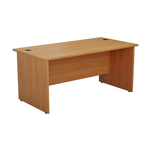 Rectangular Desks Jemini Rectangular Panel End Desk 1600x800mm Beech KF804529